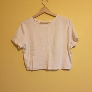 Wild Fable White Cropped T-shirt